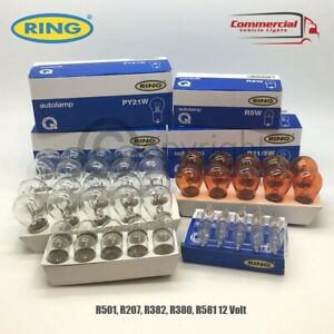 50 X RING QUALITY ASSORTED 12 VOLT CAR BULBS SET 10 OF EACH 380 382 207 501 581
