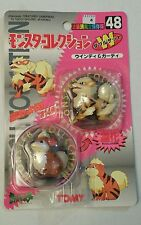 ORIGINAL JAPANESE RELEASE TOMY POKEMON FIGURES ARCANINE GROWLITHE # 48 WITH CARD