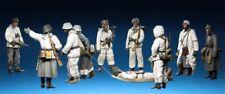1:35 German Winter Infantry Soldiers Resin Model Kit 10 Figures + Boat-Sled WWII