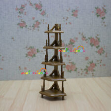 Wooden Corner Shelves Furniture Handcrafted 5-layer Dollhouse Miniatures 1:12