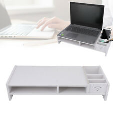 More details for monitor stand computer screen riser desktop pc laptop home office storage shelf