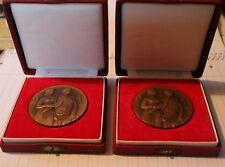 2 Alte Münzen Medaille  Tschechien Signiert A.Peter