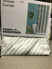 Broken Lines Shower Curtain Gray - Room Essentials™