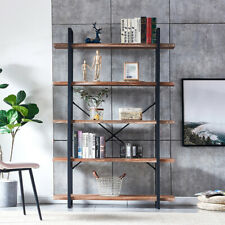 5-Tier Modern Bookshelf Storage Rack Display Stand Shelving Storage Furniture Us