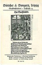 Leipzig Böttcher & Bongartz Der Buchbinder Historische Kunst- Annonce von 1909