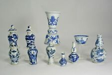10 BLUE/WHITE CHINESE EXPORT PORCELAIN COLLECTiBLES  VASES & BOWL18th-19th C.