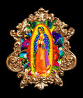 Our Lady of Guadalupe-1. Applique, Furniture mount/decor,Faux ormolu