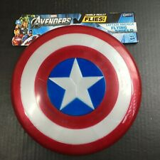 "Captain America Flying Shield Hasbro Avengers 10.5"" never used w/marks d"