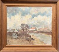 Weite Landschaft mit Haus Bendix P. Impressionist Dänemark 53 x 61