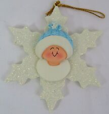 Ornament Central Baby Boy Snowflake Christmas