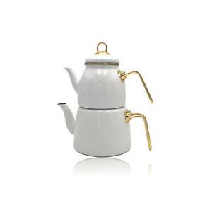 Paci Elite Class Teekanne Teekessel Teekocher  Emalie Türkische Caydanlik