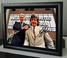 Bobby Robson & Kevin Keegan Enmarcado Lona impresión firmada Excelente Regalo O Souvenir