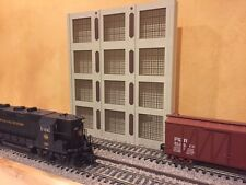 "O Scale 4-Story Concrete Warehouse Shadow Box 1-Piece 12"" Long Text To Order"