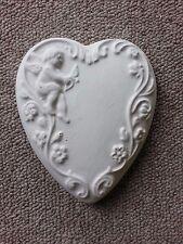 Cherub corazón de goma de látex Molde Molde Decoración De Pared Colgante Placa de Yeso Hormigón
