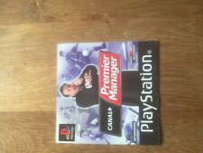 JEU VIDEO SONY PLAYSTATION 1 PS 1  premier manager football notice seule