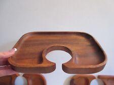 Pomerantz Tradewinds Acacia Wood Canape Appetizer Wine Tray X4 Tiki Nos