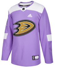 Authentic Adidas Anaheim Ducks Hockey Fights Cancer Jersey New Mens 52 (LARGE)