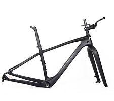 "17.5"" Carbon Fat Bike Frame Fork 26er Seatpost Snow Bicycle 150 197 MTB UD Matt"