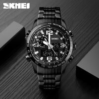 SKMEI Sports Quartz Watch 2 Time 50m Waterproof Men Women LED Wristwatch 1453 E