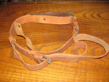 Swedish leather Mauser rifle sling 2 piece Cg 63 target 6.5x55 good cg63
