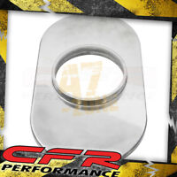 """Aluminum 15"""" Oval Air Cleaner Base Smooth - Polished"""
