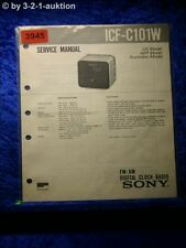Sony Service Manual ICF C101W Clock Radio (#3945)
