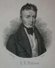 c1830 Littrow Astronom Wien Budapest Kasan Kupferstich-Porträt Pinhas Kriehuber