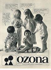 PUBLICITE ADVERTISING  1967   OZONA   layette vetements bébé pyjamas
