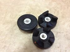 3 Replacement Parts Rubber Gear Spare Part for Magic Bullet (Cross/Flat blade)
