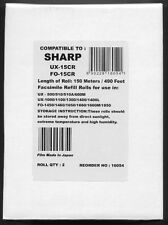 2-pack UX-15CR Fax Refill Rolls for Sharp UX-500 UX-510 UX-510A UX-600 UX-600M