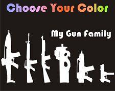 Stick Figure Gun Family Decal Car Window Sticker huntin