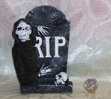 FASHION DOLL SIZE REAL ROCK TOMBSTONE GRAVESTONE HEADSTONE 1//6 LITTLES #3 RIP