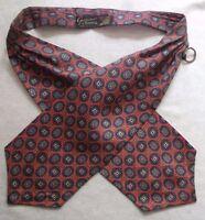 Ascot Cravat Tootal Vintage Mens 1960s 1970s MOD GROSVENOR RED
