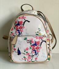 NEW! GUESS PANDORE COLLECTION WHITE PINK FLORAL TRAVEL BACKPACK BAG PURSE SALE