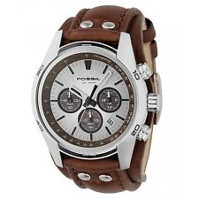 Fossil Men's CH2565 'Coachman' Chronograph Brown Leather Watch