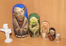 Star Wars Yoda famoso Matryoshka Muñeca Rusa Apilamiento 4pc