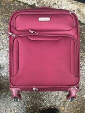 SAMSONITE LIGHTWEIGHT SUITCASE CARRY ON 55CM BURGUNDY USED FREE POST