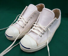 RARE VINTAGE MADE IN USA CONVERSE JACK PURCELL WHITE SNEAKER SHOES MEN'S 9 1/2