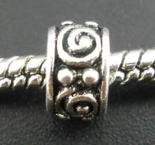 50PCs Swirl Eye Tube Spacer Beads Fit Charm Bracelet
