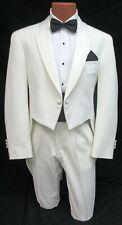 Men's Ivory Christian Dior Tuxedo Tailcoat with Pants Cummerbund & Bow Tie 54R