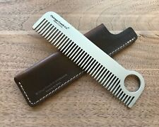 Chicago Comb No. 1 + Mahogany Brown Horween leather sheath, Made in USA,save $15