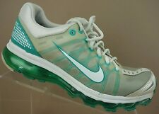 Nike Air Max 2011 White Green Teal Athletic Walking Running Shoes Women's 8.5