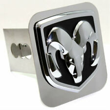 """Dodge Ram Logo Chrome Tow 2"""" Receiver Hitch Cover Real Stainless Steel Plug"""