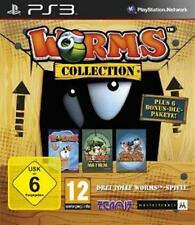 PLAYSTATION 3 WORMS  1 + 2 COLLECTION Ultimate Mayhem Armageddon Neuwertig