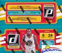 2017/18 Panini Donruss Basketball MASSIVE 24 Pack Retail Box-1 AUTOGRAPH/MEM
