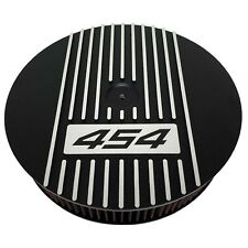 "Big Block Chevy 454 - 13"" Round Air Cleaner Kit Black - Ansen USA"