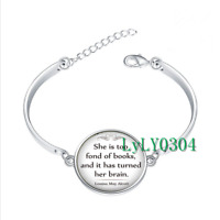 book lover's gift book  glass cabochon Tibet silver bangle bracelets wholesale