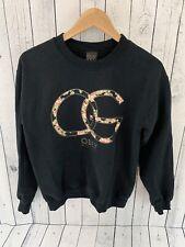 8407657b OBEY WORLDWIDE Men's Crew Neck Sweatshirt Black Size Small Floral E4