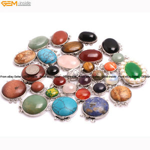 Assorted Gemstone Stone Beads For Jewelry Making Clasps jewellery Alloy 1 Piece
