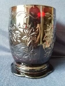 Princess House 5629 Fantasia Ruby Red Pillar Candle Holder